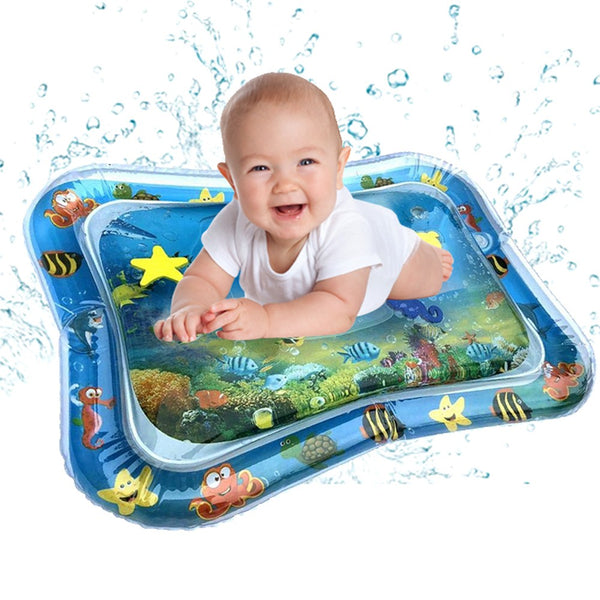 Baby Kids water play mat Inflatable Infant Tummy Time Playmat Toddler Fun Play to promote hand-eye coordination - thefashionique