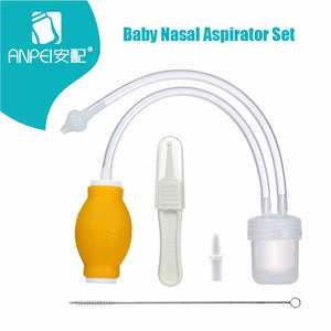 Baby Nasal Aspirator Set Baby Care Products Anti-backwash Device Vacuum Suction Newborn Nose Aspirator Cleaner Snot Nose Cleaner - thefashionique