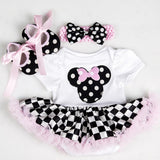Baby Rompers Infant Clothing Glitter One 1st Birthday Baby Girls Love Heart Beauty Rabit Tutu Dress Jumpersuit Headband Shoes - thefashionique