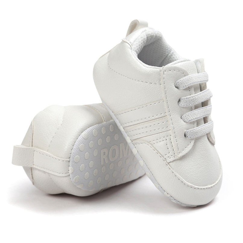Baby Shoes Newborn Toddler Infant Baby Boys Girls Leather Sports Shoes Soft Sole Anti-slip Sneakers Baby First Walker JE25#F - thefashionique