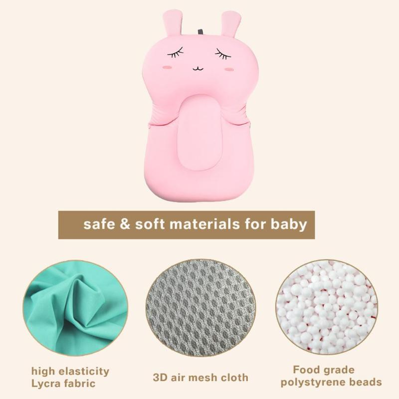 Baby Shower Portable Air Cushion Bed Infant Bath Pad Non-Slip Bathtub Mat Bathing Seat Support Non-skid Bath Net Bed Baby Care - thefashionique