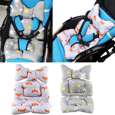 Strollers Accessories Symbol Of The Brand Stroller Seat Cushion Cartoon Warm Cover Diaper Pad Cotton Baby Cart Mat Pram Kids Sleeping Mattress Mother & Kids
