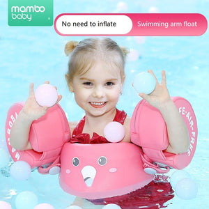 Baby Swim Trainer Life Jacket for Kids Infant Swimming Water Float Ring Aid Vest with Arm Wings Non-Inflatable For Boys and Girl
