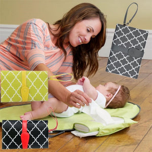Baby Waterproof portable Diaper Changing Mat Nappy Changing Pad Travel Changing Station Clutch Baby Care Products - thefashionique