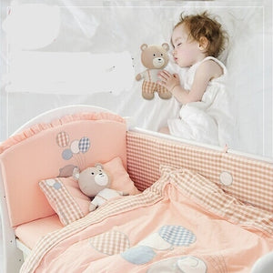 Baby bedding set baby bed set jogo de cama kit bebe crib organizer baby crib set with bumper Washed cotton hot new 10 pieces/set - thefashionique