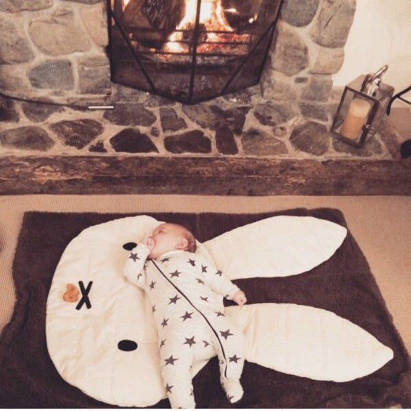 Baby bedding set blanket kids rabbit room decoration blankets toddler crib sleeping cover blanket floor mat konijnen kruip deken - thefashionique