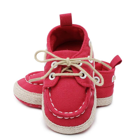 0f69e184a646b Baby boy girls shoes newborn crib shoes fashion canvas casual bebe crib  shoes lace up Skid-Proof spring first walker Booties. from  3.77 USD