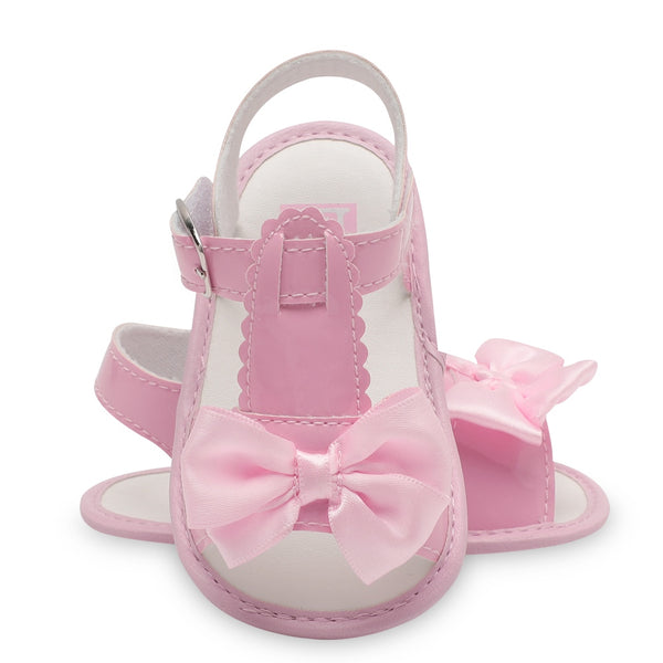 Baby girls Sandals shoes newborn summer footwear infant shoes for baby Bowknot Anti-slip bebes kids brand White Pink Red Apricot - thefashionique