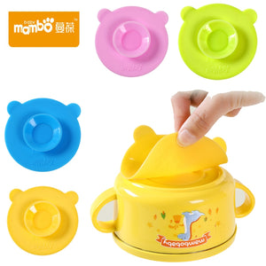 Baby tableware silicone double-sided super suction variety of cartoon anti-collision children's bowl sucker - thefashionique