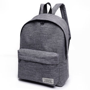 Bacisco Canvas Backpack Women Men Large Capacity Laptop Backpack Student School Bags for Teenagers Travel Backpacks Mochila - thefashionique