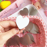 BalleenShiny Multipurpose Heart Shape Adhesive Stainless Steel Storage Hook Hats Key Hanger Bathroom Accessories Home Organizer - thefashionique