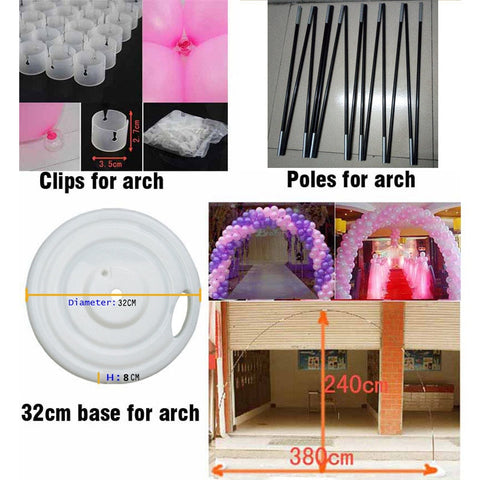 Balloon Arch accessories Plastic Clips Pole Big base Home & Garden Festive & Party Supplies Balloon decorations free shipping