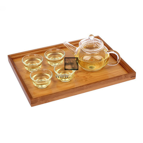 Bamboo Home Food Fruits Tray Goods Storage Breakfast Serving Plate Snack Dessert Containers Trays Box Plate Dishes
