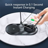 Baseus 15W Qi Wireless Charger Fast Charging For iPhone for huawei Qi High Power Portable Wireless Charger Phone Charger Station