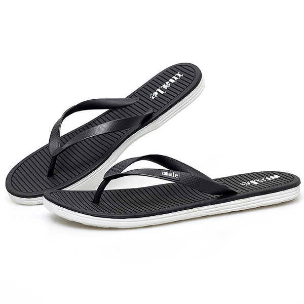 Beach Men's Slippers Summer Flip Flops Men Indoor Home Slippers For Men Black Bathroom Slippers Chanclas Hombre PINSV - thefashionique