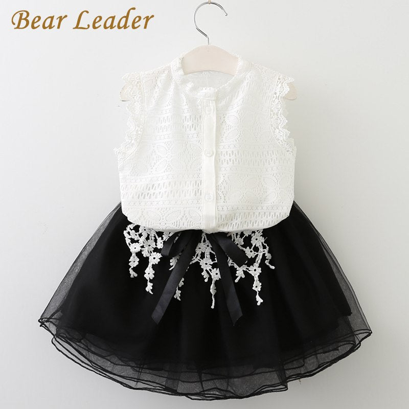 Bear Leader Girls Clothing Sets 2018 New Summer Girls Clothes Sleeveless T-shirt+Shorts 2Pcs Kids Clothing Sets For 3-7 Years - thefashionique