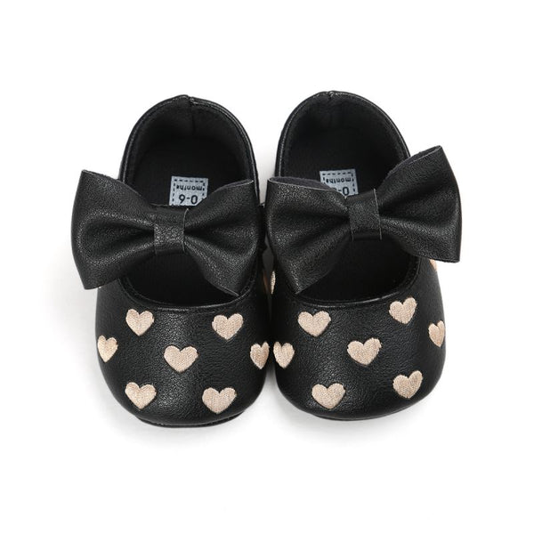 Bebe PU Leather Baby Boy Girl Baby Moccasins Moccs Shoes Bow Fringe Soft Soled Non-slip Footwear Crib Shoes - thefashionique