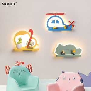 Bedroom Lighting Modern LED Wall Lamps for baby Bedside Indoor Lights Wandlamp Luminaire Bear Elephant Shape Iron Fixture Abajur