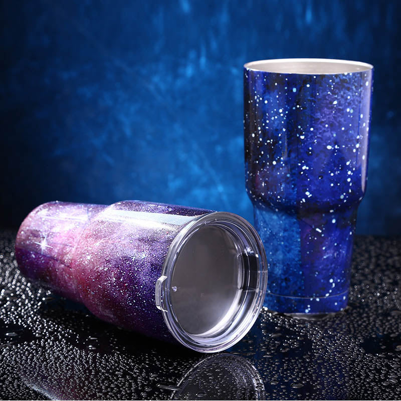 Beer Glass Tumbler 30 oz  Vacuum Insulated 1 Pc Stainless Steel Vehicle Tea Cup Double Wall Travel Coffee Mug High Capacity - thefashionique