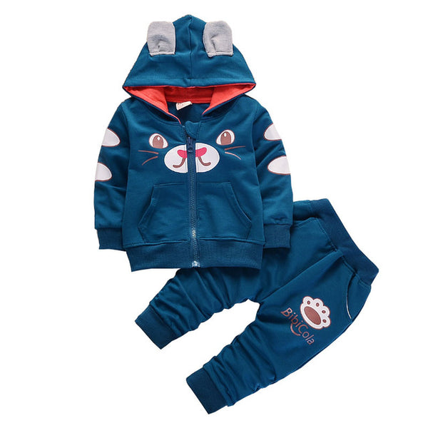 BibiCola baby boys clothing sets tops+ pants 2pcs infant newbron baby clothes sets toddler spring autumn  tracksuit bebe suits - thefashionique
