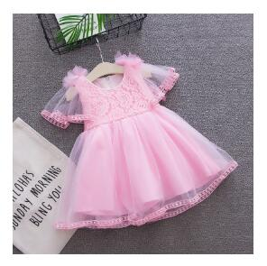 BibiCola new summer baby girls ball gown dress lace dress princess mesh clothes birthday dresses for baby girls dress summer - thefashionique