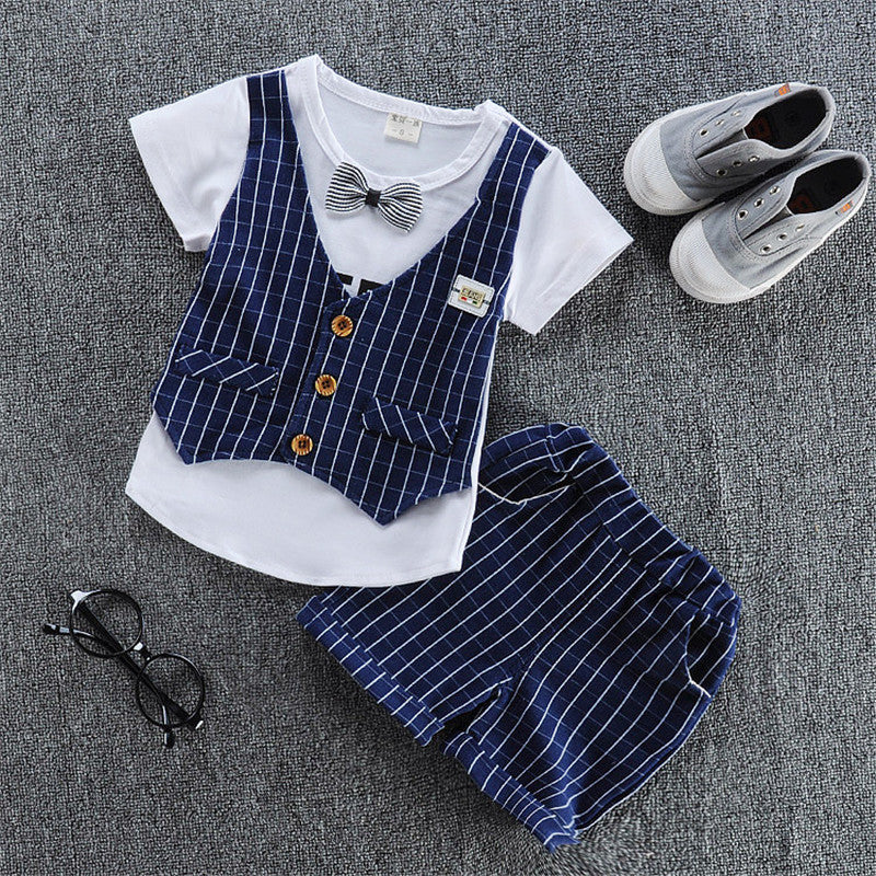Bibicola baby boys summer clothing set short-sleeved T shirt+shorts 2 pieces clothing set casual cotton new style  boys clothes - thefashionique