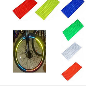 Bicycle Reflective Stickers Bike Stickers Cycling Wheel Rim Decals Accessories Strip Bicycle Tape Child Creative Light