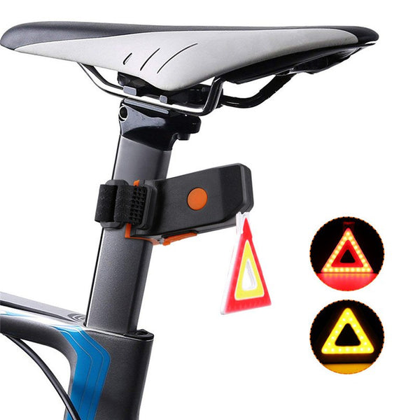 Bicycle Taillights LED USB Rechargeable Bike Tail Light Bicycle Safety Cycling Warning Lamp Built-in rechargeable battery #2D18 - thefashionique