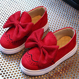 Big Bow Kids Shoes Girls Spring Loafers Fashion Suede Children Casual Shoes for Girl Princess Comfortable Child Shoes CSH323 - thefashionique