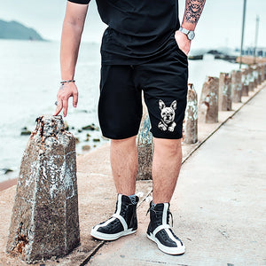 Big Plus size 7XL  Male Beach cotton Men's Sweatpants Short Pants  Drawstring Shorts Harem Trousers Loose relax fit black - thefashionique