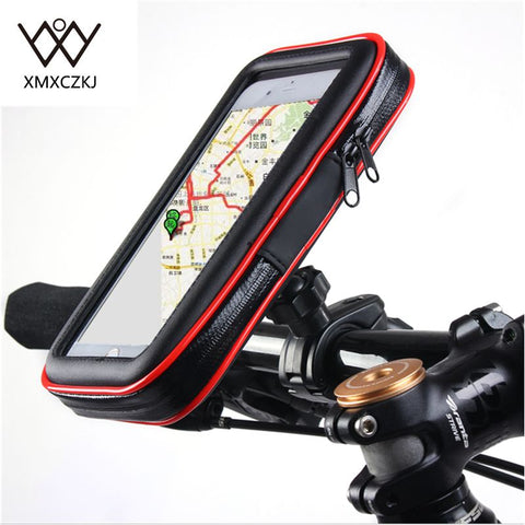 Bike Bicycle Motorcycle Holder with Waterproof Case Bag Handlebar Mount phone Holders Stand For iPhone Samsung Note3/4/5 GPS - thefashionique