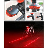 Bike Cycling Lights Waterproof Mountain 5 LED+ 2 Laser Tail Light MTB Safety Warning Bicycle Rear Tail  Light Bike Accessories - thefashionique