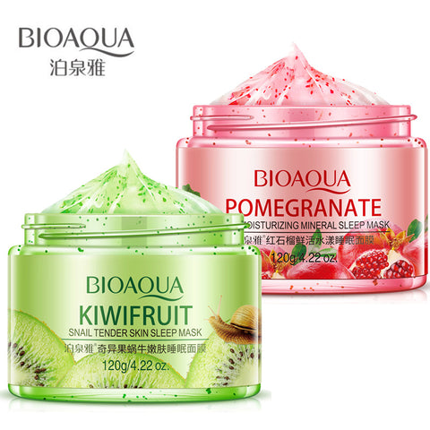 Bioaqua Fruit Skin Care Mask Deep Whitening Moisturizing Sleeping Mask Acne Treatment Remover Blackhead Repair Face Mask Beauty - thefashionique
