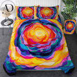 Bloom by Amy Diener Bedding Set King Colorful Rose Quilt Cover Flower Bed Cover Set Queen 3pcs Watercolor Art Luxury Bedspreads