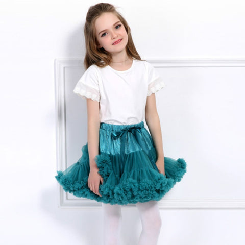 79105f70a Bow Baby Girls Tutu Skirt Fluffy Children Ballet Pettiskirt Kids Girl Saia Tutu  Princess Tulle Party
