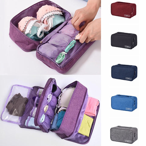 Bra Underwear Packing Cubes Organizer Trip Luggage Waterproof Travel Bag for Women Pouch Case Suitcase Space Saver Package - thefashionique
