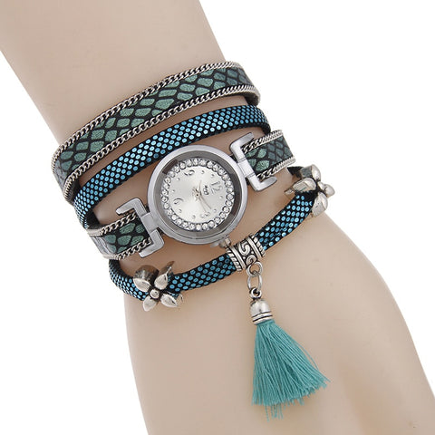 Braided Bracelets Bangles Quartz Watch Women Leather Strap Wrist Watch Jewelry Dropshipping