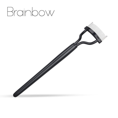 Brainbow 1pc Eyelashes Brush Stainless Make Up Mascara Guide Applicator Eyelash Comb Eyebrow Brush Curler Beauty Essential Tools