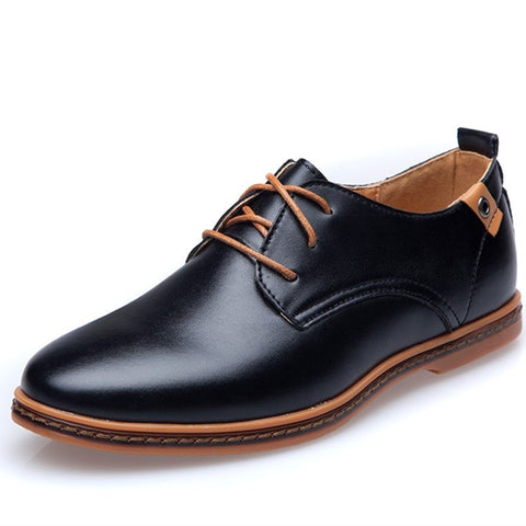 Brand Men Leather Shoes England Trend Casual Shoes Male Oxford Leather Dress Shoes Zapatillas Men Flats Plus Big Size Sneakers - thefashionique