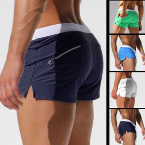 Brand Shorts Men Zipper Pocket Casual Mens Shorts Fast Dry Boardshorts Joggers Men's Trunks Summer Mens Short homme masculino - thefashionique