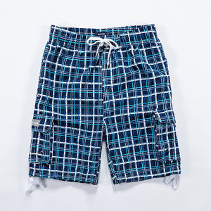 Brand Summer Casual Shorts Men New Fit Plaid vailable Shorts Male Loose Elastic Waist Breathable Beach Shorts Mens Clothing 4XL