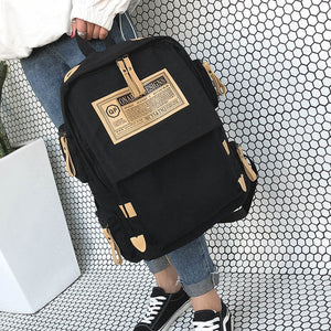 Brand fashion backpack women shoulder Bag School bags for teenager girls boys casual solid backpack school Mochila rucksack - thefashionique