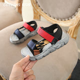 CCTWINS Kids Shoes 2019 Summer Girls Fashion Mixed Color Sandals Boys Beach Ribbon Flats Children Baby Soft Barefoot Shoes BS245 - thefashionique