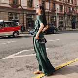 CHICEVER Vintage Summer Trousers For Women Jumpsuits With Sashes Slim Green 2018 Wide Leg Female Pants Fashion New Jumpsuits - thefashionique