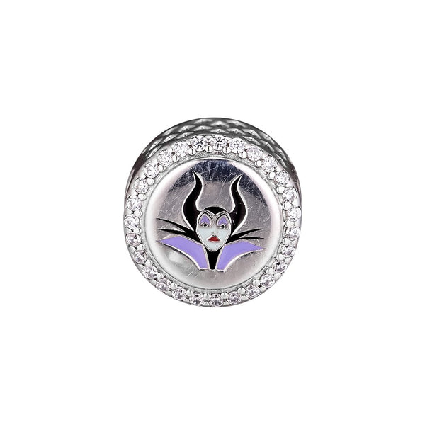CKK 925 Sterling Silver Round Charm Features Maleficent and ''Mistress of all evil'' Beads Original Jewelry - thefashionique