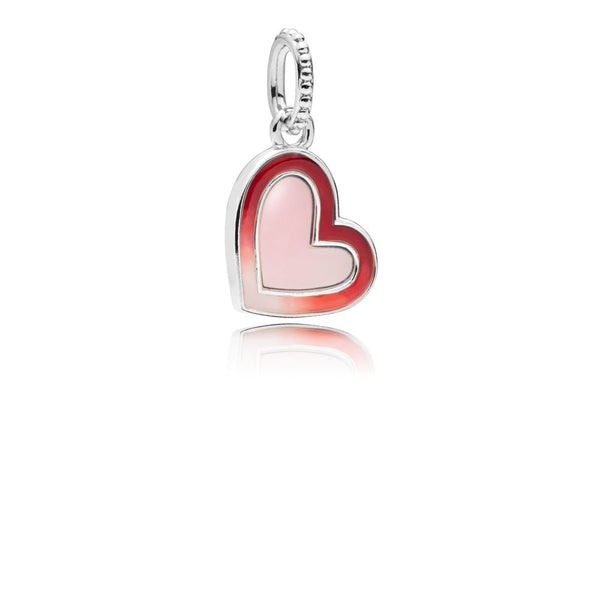COSEN PANDORAS 2019 New 100% 925 Sterling Silver Asymmetric Heart of Love Charm Women Jewelry Valentine's Day Present 797820ENMX - thefashionique