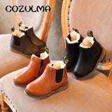 COZULMA Kids Ankle Boots Girls Boys Floral Flower Print Chelsea Boots Girls Autumn Martin Boots Children Winter Shoes size 21-36 - thefashionique