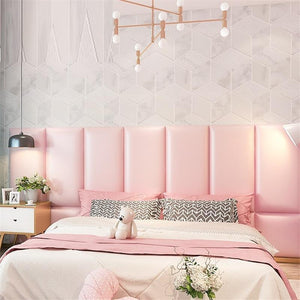 Cabezero Polipiel Cabezal Capitone Head Board Cushion Children 3D Wall Sticker Pared Cabecero Cama Tete De Lit Bed Headboard