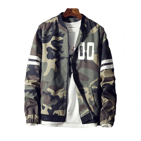 Camouflage Bomber Jacket Men 2018 Autumn Winter Jacket Coat High Qualtity Baseball Male Windbreaker Mens Jackets and Coats 5XL