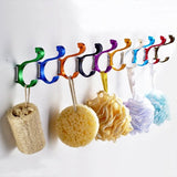 Candy Color Space aluminum Decorative Wall Hooks Solid Clothes Hats Keys Hanger Household Kitchen Closet Door Hangers - thefashionique